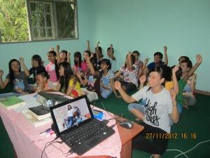 kegembiraan anak-anak di Tanjung Tabalong